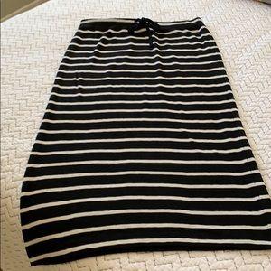 Loft Lou & Grey Black Striped Maxi Skirt
